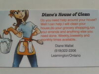 Dianes House of Clean NOW OFFERING ERRANDS RUN ,GROCERY SHOPPING