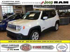 2017 Jeep Renegade Limited DEALER DEMO LEATHER  NAV POWER SKY SU