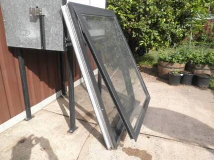 black commercial grade chain winding aluminium window brand new