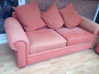 Three seater PLUS single chair comfy sofa.