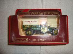 MODEL OF YESTERYEAR - Y-13 - 1918 CROSSLEY - WARING'S -LOW PRICE -LOOK-~!!!