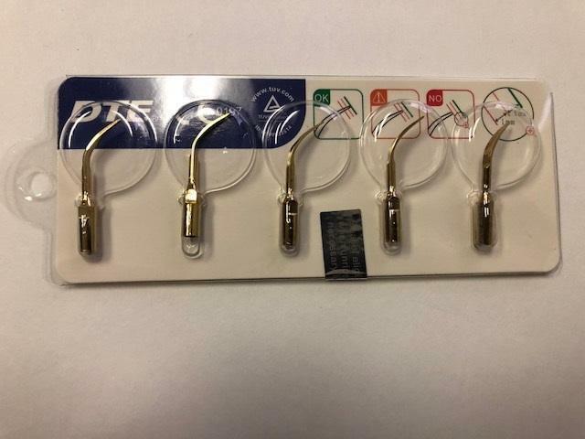 Woodpecker DTE Model GD4T 5pc Gold Tips for Ultrasonic DTE D1, D5, D7