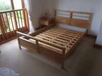 Double Bed Frame - Beech - Goon condition - Quick sale