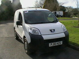 10 REG 2010 PEUGEOT BIPPER 1.4 HDI DIESEL VAN IN UNLETTERED WHITE HPI CLEAR