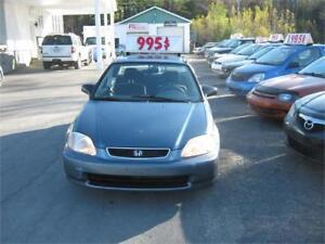 Honda Civic LX 1998 PETIT BUDGET !!!