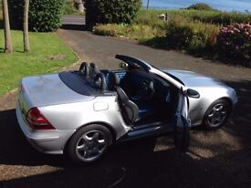 2003 Silver Mercedes 230 SLK Kompressor auto **Low mileage** First to see will buy. Only £3495