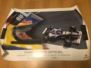 Affiche originale Jacques Villeneuve