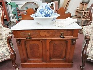 Antique Victorian English Wash Stand With Marble Top London Ontario image 1