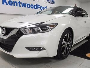 2017 Nissan Maxima SV with leather heated seats.