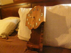 wood corner mount clock