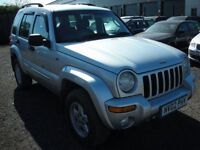 JEEP CHEROKEE 2.5 LIMITED CRD 5d 141 BHP (silver) 2002