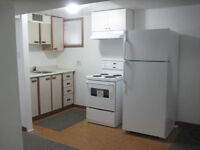 ONE BEDROOM AND LARGE LIVING ROOM BASEMENT APPARTMENT FOR RENT