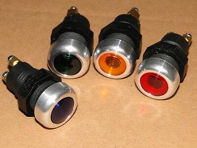 4 Kontrollleuchte Rot Gelb Grün Blau mit Metall-ring für Traktor