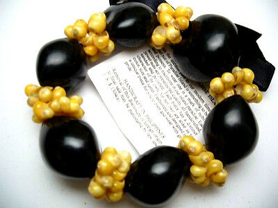 Hawaii Wedding / Graduation Kukui Nut Luau Hula Jewelry Bracelet ~#24011 (QTY 2)