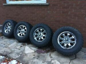 """F150 AND GMC/CHEVROLET  33"""" TIRE AND WHEEL PACKAGE"""