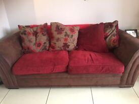 Fabric 3-Seater Sofa