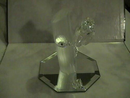 "Swarovski Crystal Collectible Figurine WOODPECKERS ""SHARING"" SCS 1988 Mint"