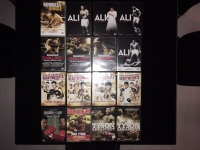 16 classic heavyweight boxing DVDs
