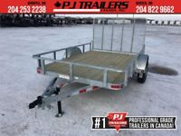 "2018 Galvanized 77"" x 10' Single Axle Utility Trailer Winnipeg Manitoba Preview"