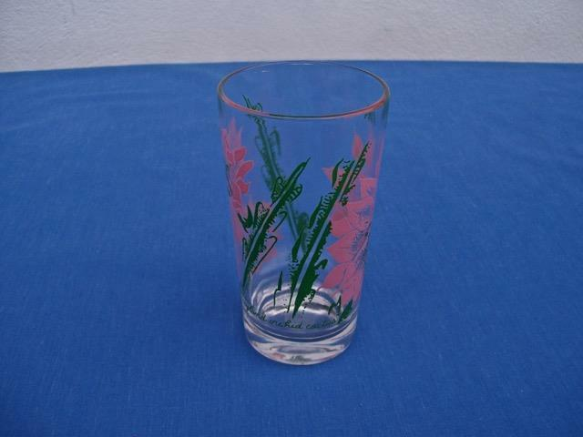 "VINTAGE BOSCUL PEANUT BUTTER GLASS  *FAIRYLAND ORCHID CACTUS*  5"" TUMBLER"