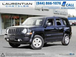 2015 Jeep Patriot SPORT, TRUE 4X4 , TRAILER HITCH, CD PLAYER & 3