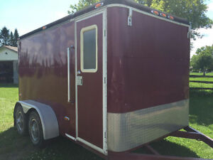 Custom Made 7x12 Tandem Axle Enclosed Cargo Trailer with Ramp