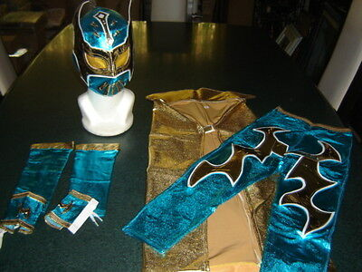 Sin Cara Costumes (SMALL KIDS SUIT 3-5 year SIN CARA BLUE COSTUME FANCY DRESS OUTFIT)