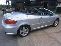 05 PEUGEOT 307 CC 2.0 16v AUTOMATIC POWER ROOF CONVERTIBLE 1 OWN 61K FSH 8 STAMP