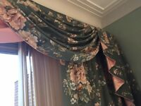 DESIGNER Super Vintage Floral Curtains Branscombe at crowson fabric