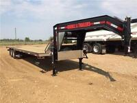 2016 Double A, 30FT Gooseneck w/ 9FT Hydraulic Dovetail Trailer