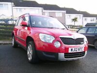 Skoda Yeti 1.6 diesel 5 door hatchback for sale.