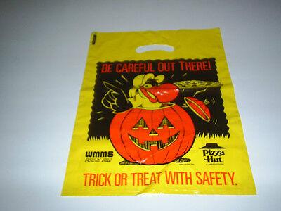 IO 1986 WMMS BUZZARD RADIO PIZZA HUT HALLOWEEN BAG UNUSED (Pizza Hut Halloween)