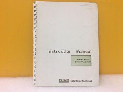 Fluke 803d Differential Voltmeter Instruction Manual