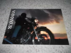 1981 Yamaha Motorcycle Sales Brochure