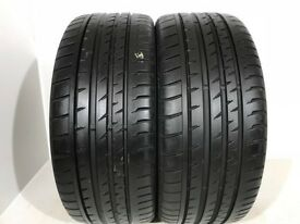 F589 2X 225/50/17 94H CONTINENTAL SPORT CONTACT 2 2X6MM TREAD NO PUNCTURE REPAIRS