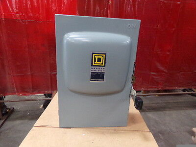 Square D 200 Amp Non-fusible Safety Switch Disconnect Cat Du324 New Old Stock