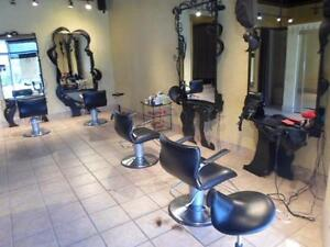 Hair salon closing down sale / barber chairs / salon stations / reception desk / hair salon shampoo unites / auction