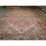 Ca1930 VG DY ANTIQUE PERSIAN VISS KARAJEH SERAPI HERIZ 8x11.5 ESTATE SALE RUG