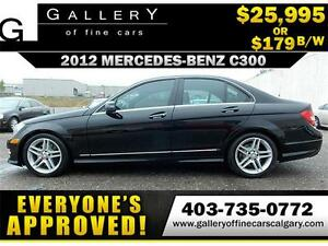 2012 Mercedes-Benz C300 4MATIC $179 biweekly APPLY NOW DRIVE NOW