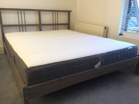 Large double bed with new mattress