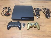 Playstation 3 Slim 160GB with 2 pads and 9 games