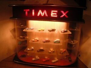 Timex watch display case,vintage