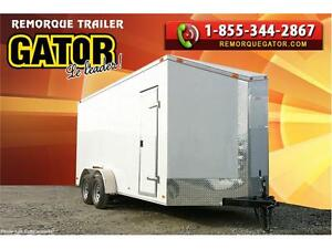 REMORQUE FERMÉE 7X12SA 7' V-NOSE ENCLOSED TRAILER CARGO