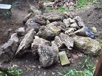 Garden rocks / rockery in different sizes