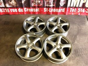 JDM SUBARU OEM SILVER MAGS 5X100 17X7JJ OFFSET 55 FOR SALE