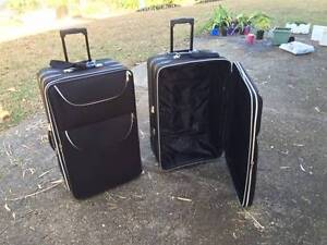 TRAVELWELL LARGE BLACK SUITCASES Redbank Plains Ipswich City Preview