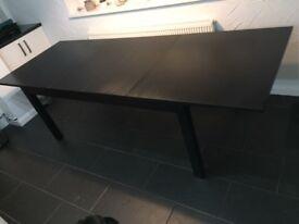 BLACK IKEA BJURSTA EXTENDING DINING TABLE