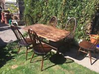 Super Ercol table & chairs