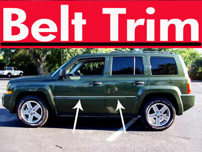 Jeep PATRIOT CHROME SIDE BELT TRIM DOOR MOLDING 2007 2008 2009 2010-2016 - Jeep Door Molding