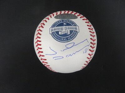 (Johnny Damon Signed Inaugural Yankee Stadium Baseball Autograph Auto Steiner)
